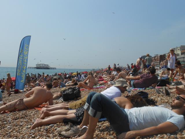 Saturday at Brighton Beach