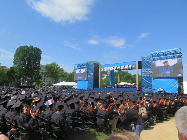 A quick trip to Philly and GW Commencement on the National Mall